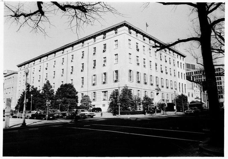 The Winder Building, view of the 17th and F Streets facades, taken from the southeast, March 1969