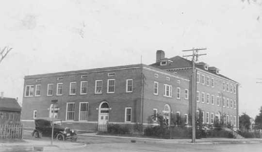 The NENH building as it looked in its early years
