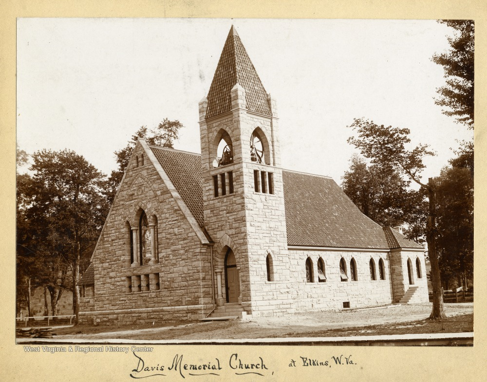 Davis Memorial Presbyterian Church circa 1890-1910, shortly after its construction