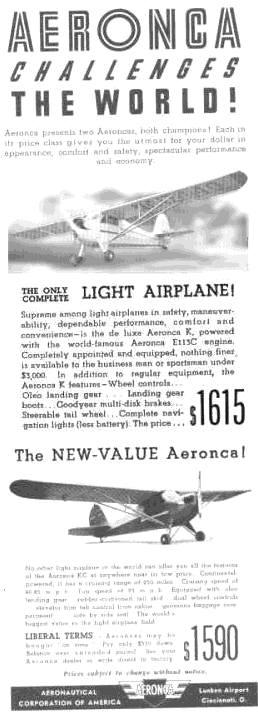 Aeronca advertisement