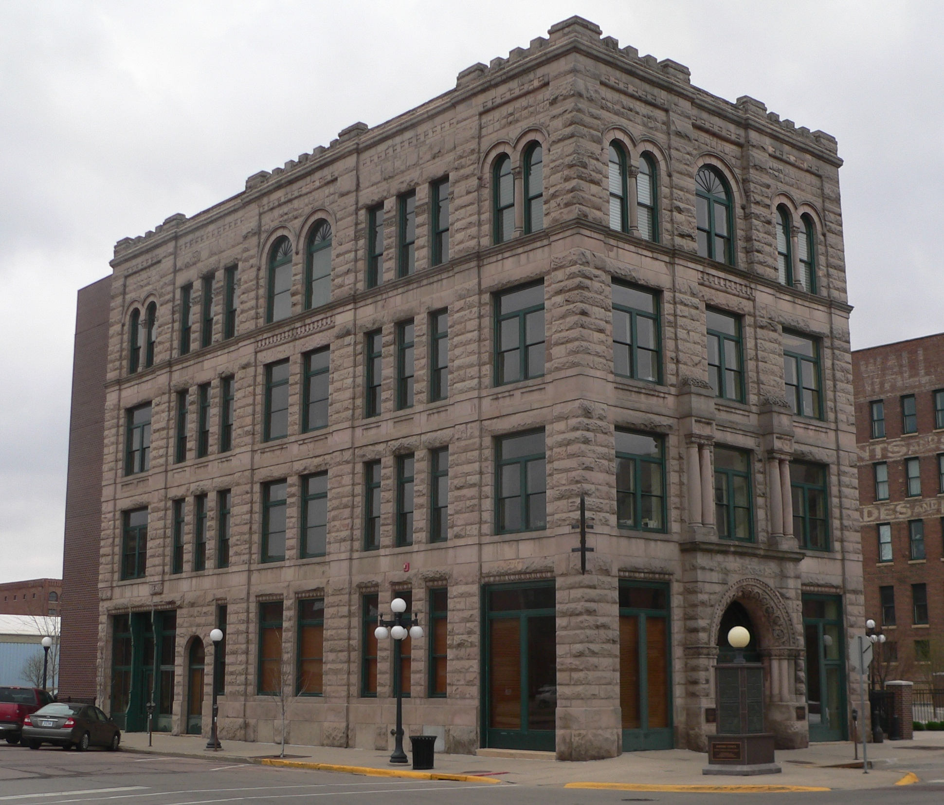 2012 Photo of The Evans Block building in Sioux City, Iowa.