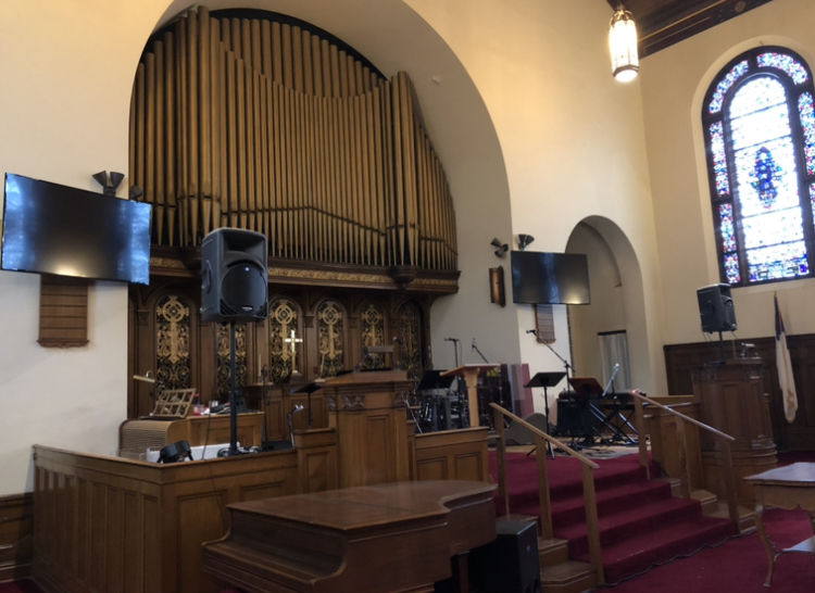 Austin Organ which is the oldest pipe organ still properly functioning in Lycoming County.