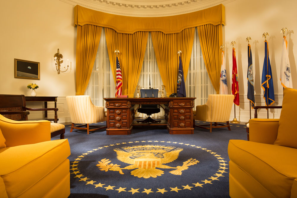 Replica of Nixon's Oval Office in the Library