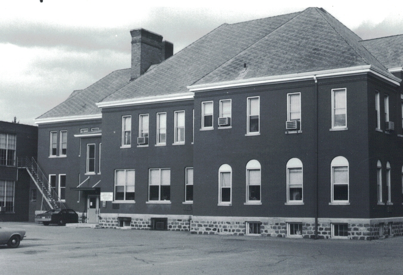 Harrison School Building, west elevation, 1978