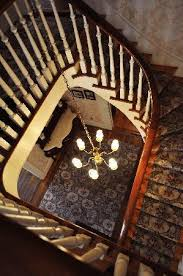The stairway of the Lotz home.