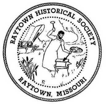 Logo of the Raytown Historical Society, showing William Ray at work