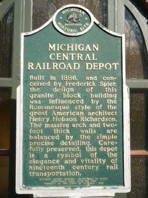 Michigan Central Railroad Depot Historical Marker