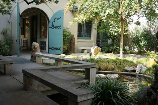Inside the courtyard of the museum.