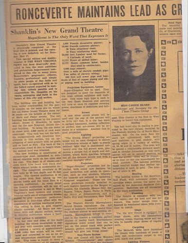 Newspaper article on construction of Shanklin's Grand Theater