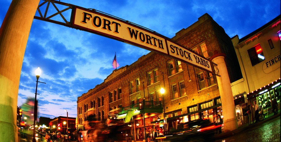 The entrance to the Stockyards National Historic District.