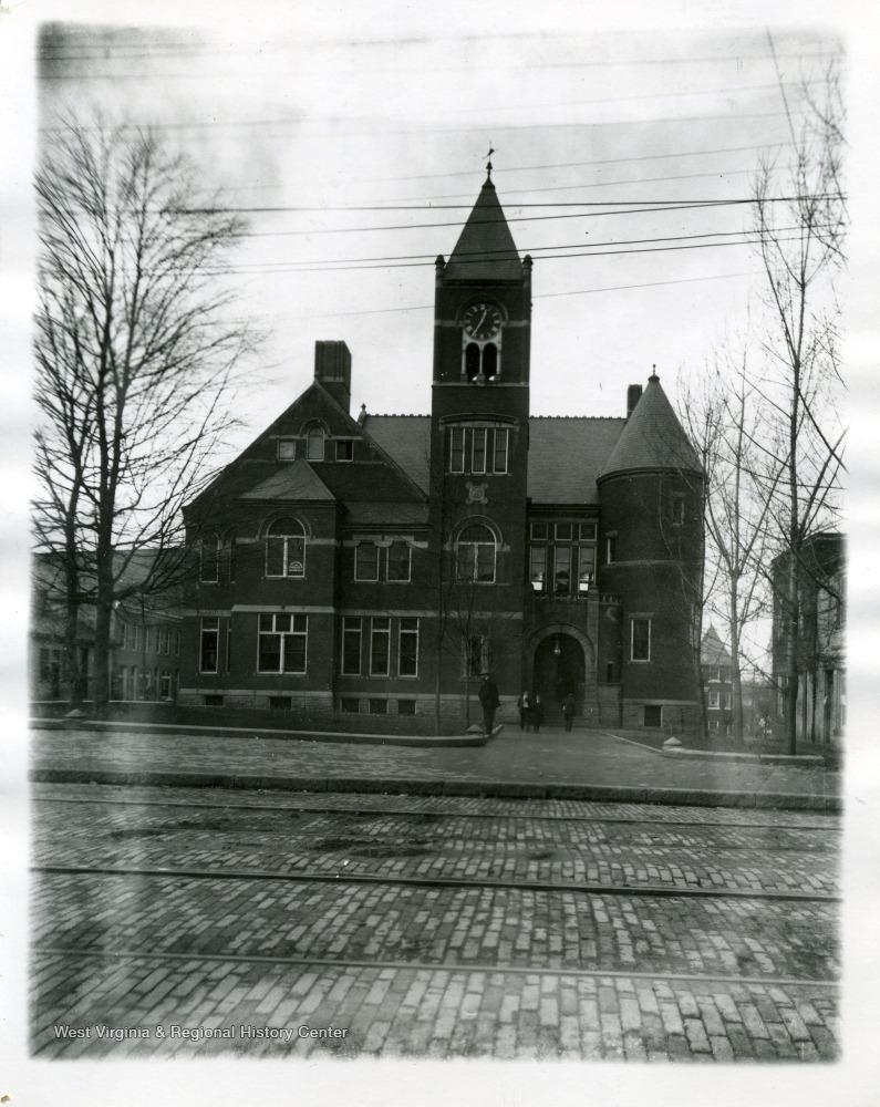 The Monongalia County Courthouse, ca. 1900-1910