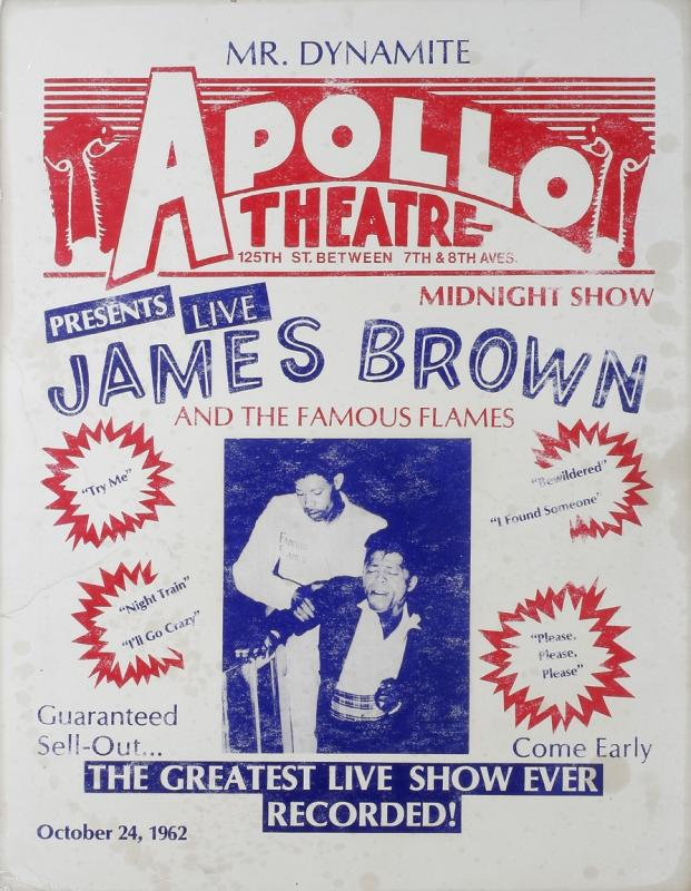 James Brown performing at the Apollo advertisement.