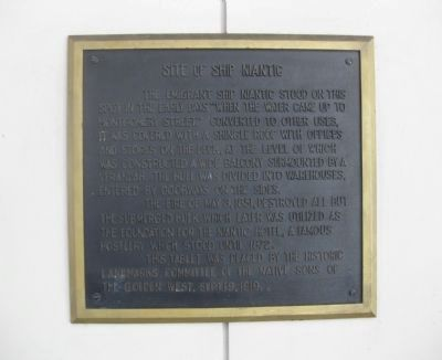 The Ship Niantic Historical Marker