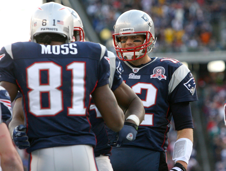 Tom Brady and Randy Moss during the 2007 season