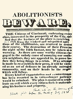 A warning to all abolitionsts