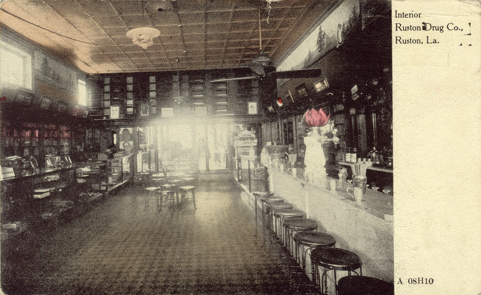 Ruston Drug Company. The original floor remains.