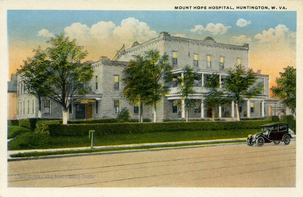 Postcard of Mount Hope Hospital, formerly Kessler Hospital