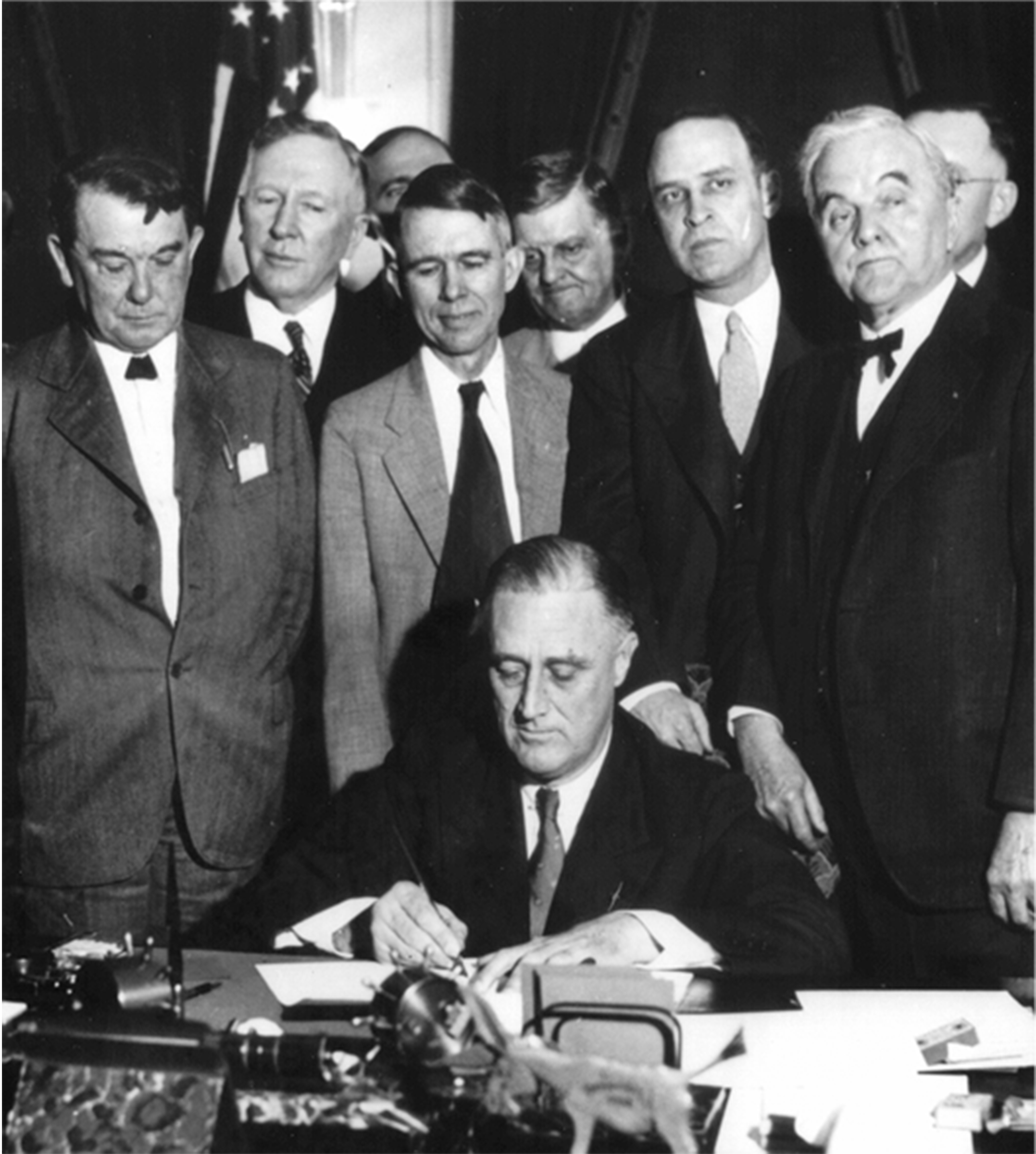 President Franklin D. Roosevelt signing the TVA Act (1933)