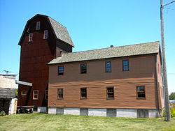 The mill was built in 1846 under the direction of Mormon leader Brigham Young and has been preserved and restored as a small museum and art gallery