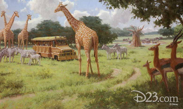 Concept Art for Kilimanjaro Safari