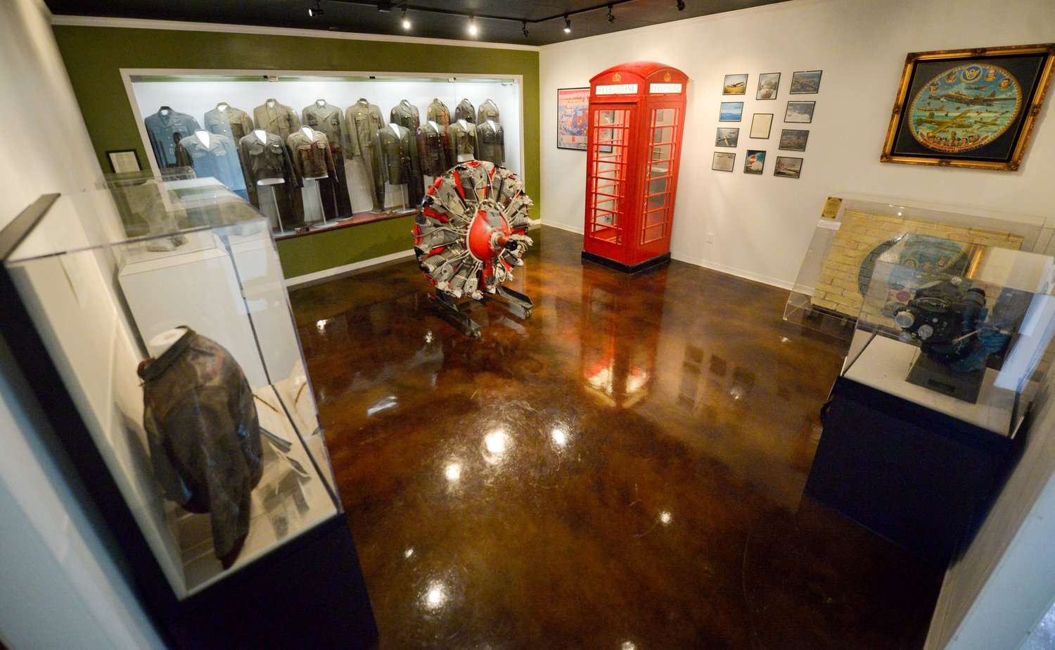 View of a gallery exhibit inside the museum