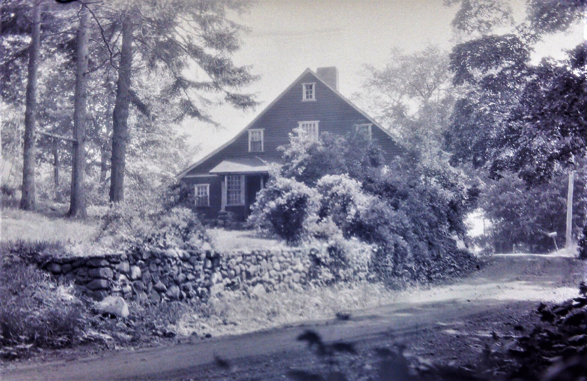 Caption: The Dickerman house located on the north side of Mt. Carmel Avenue in its original location. The photo was taken sometime between 1926 and 1927.