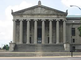 The Stambaugh Auditorium's main entrance