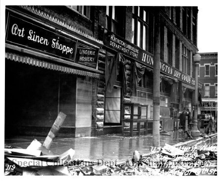 Huntington Dry Goods during the Flood of 1937