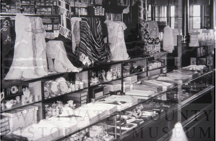 The interior of the Morris Mercantile