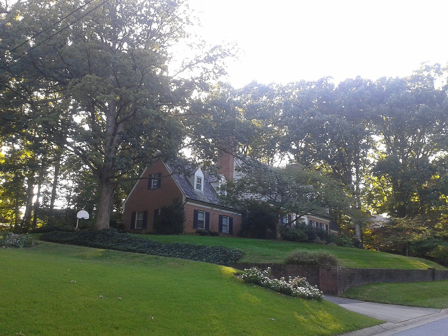 A large home found within the historic College Heights Estates Historic District