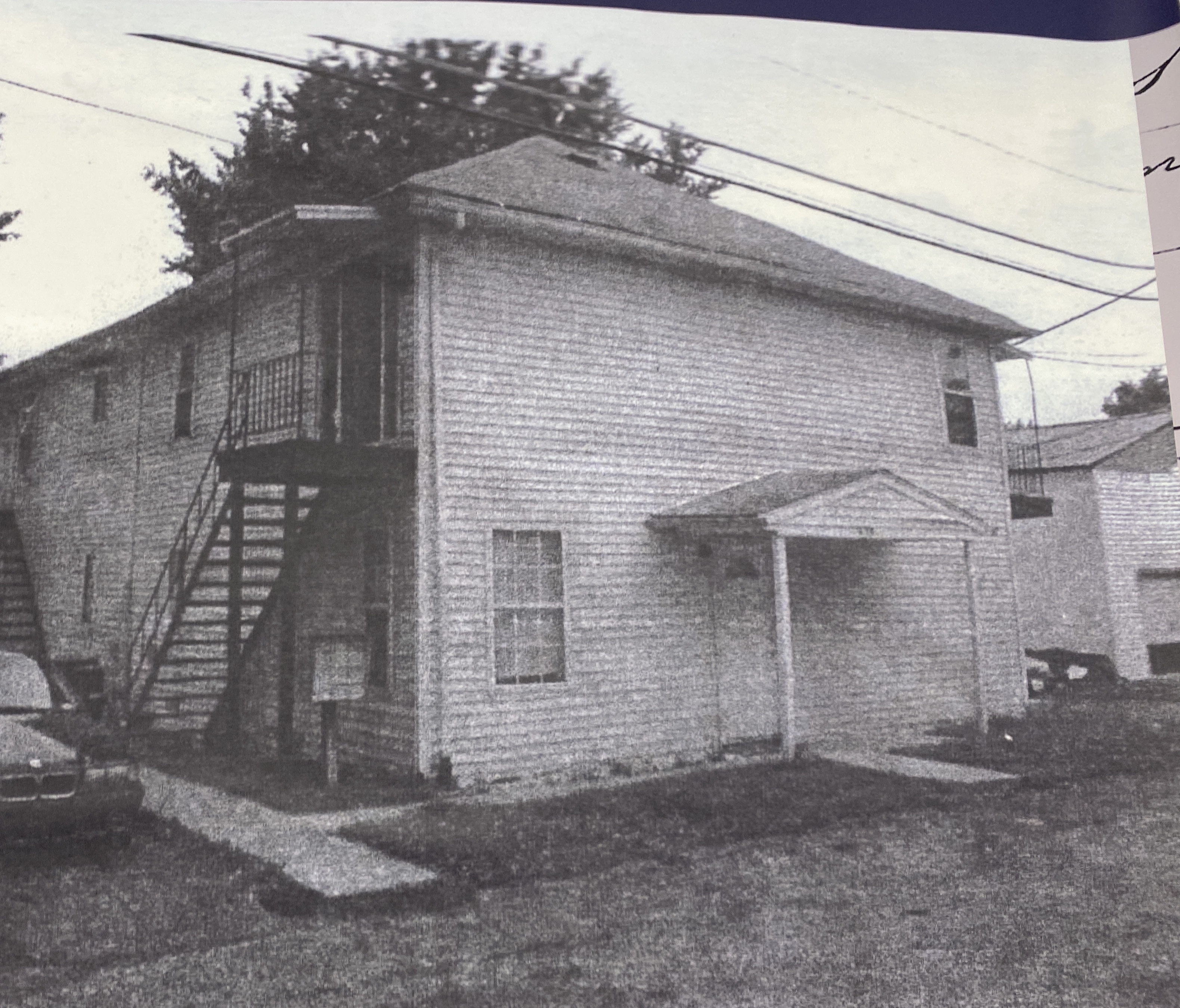 This building right across the the Havre de Grace colored school was used for extra classrooms.