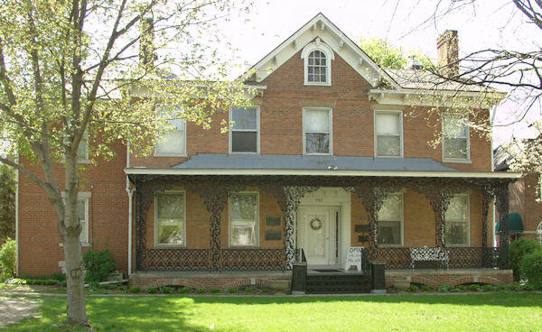 The John C. Flanagan House was built in 1837 and is the oldest standing house in Peoria.