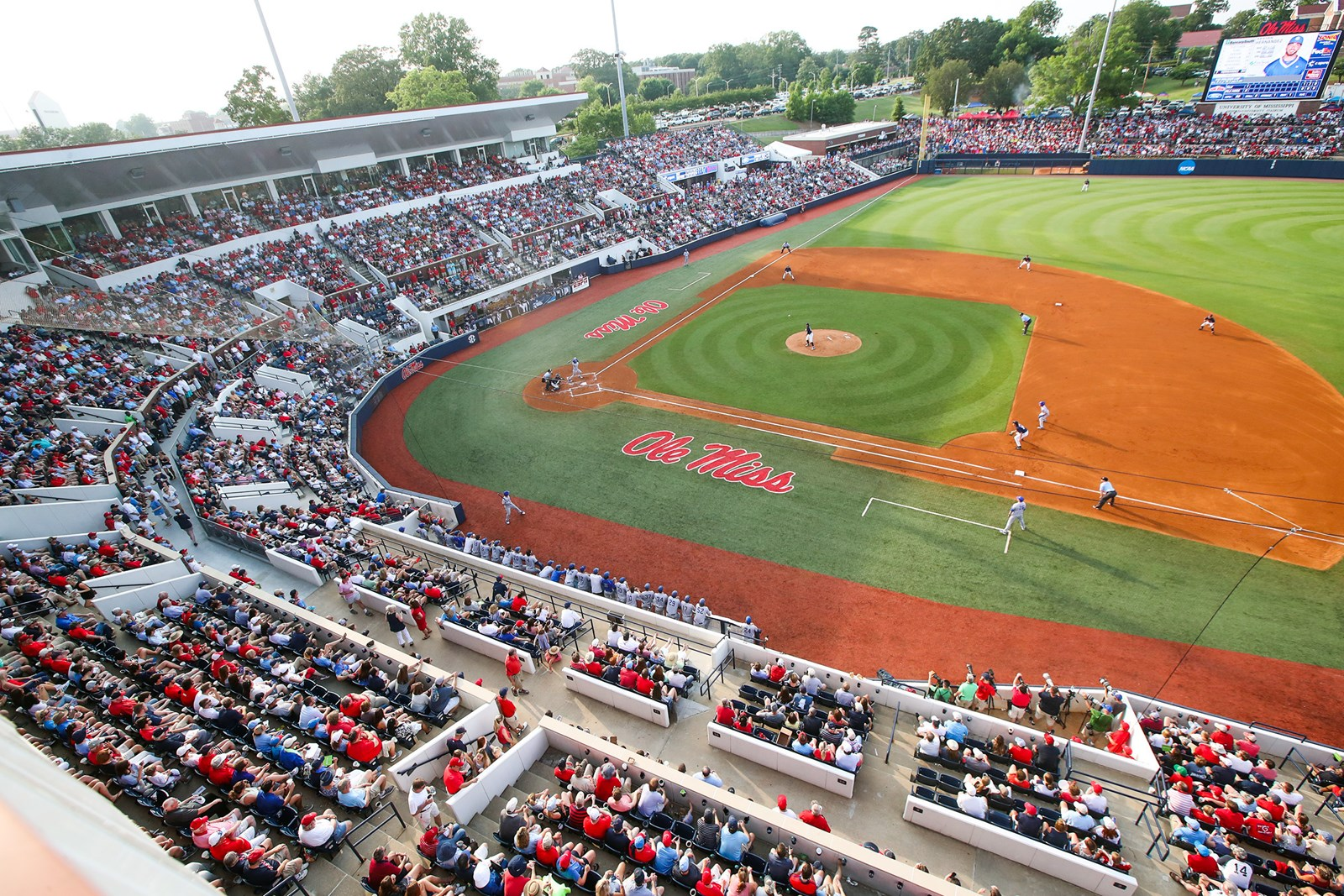 This picture is of Swayze Field taken from the third level of the stadium