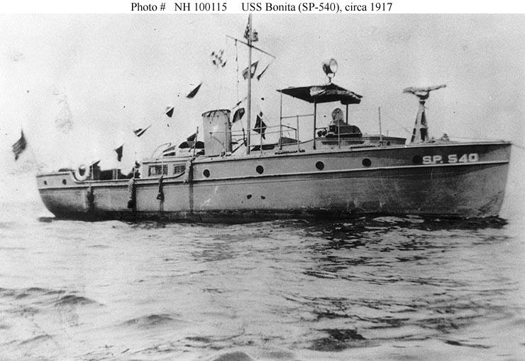 USS Bonita Section patrol vessel during World War I