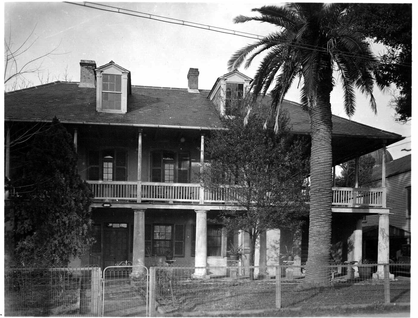 The Pitot House as it appeared in 1936 when it served as a home for the Missionary Sisters of the Sacred Heart.