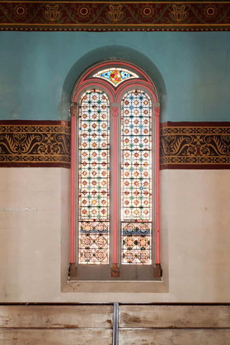 A set of La Farge's paired opalescent windows.