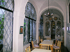 Interior of the now enclosed loggia on the east side