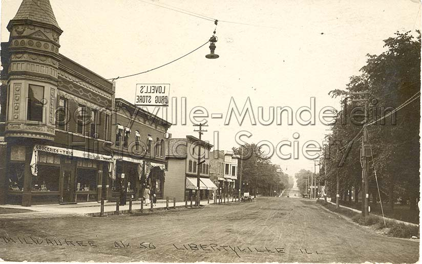 Milwaukee Avenue looking south from Cook Avenue, circa 1910
