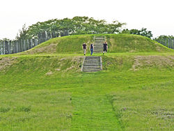 The larger of the two mounds at Aztalan State Park