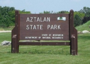 The sign at the entrance of Aztalan