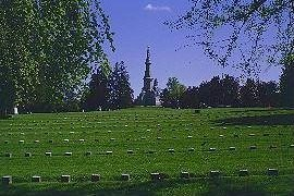 The Soldiers' Monument in the center of the Soldiers' National Cemetery at Gettysburg