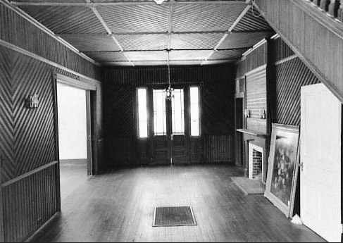 Photograph of interior hall of Woodlands house, NRHP nomination