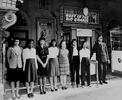 In front of Ferguson Theater 1939