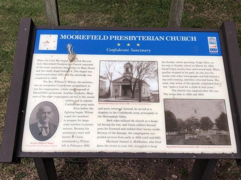 Marker about Civil War at Presbyterian Church