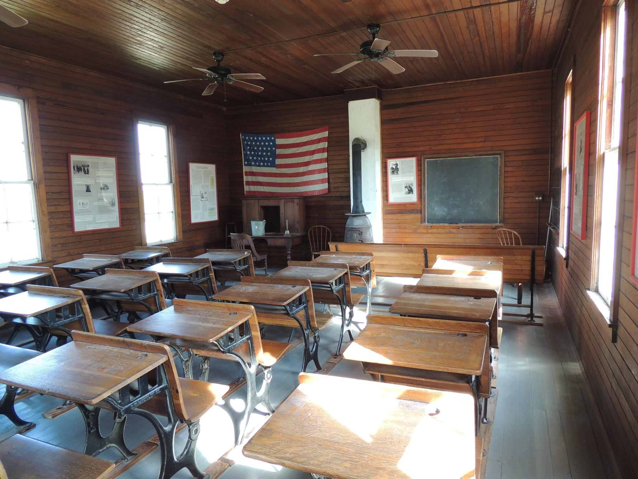 Inside of One-Room Schoolhouse/Hensley Town Hall