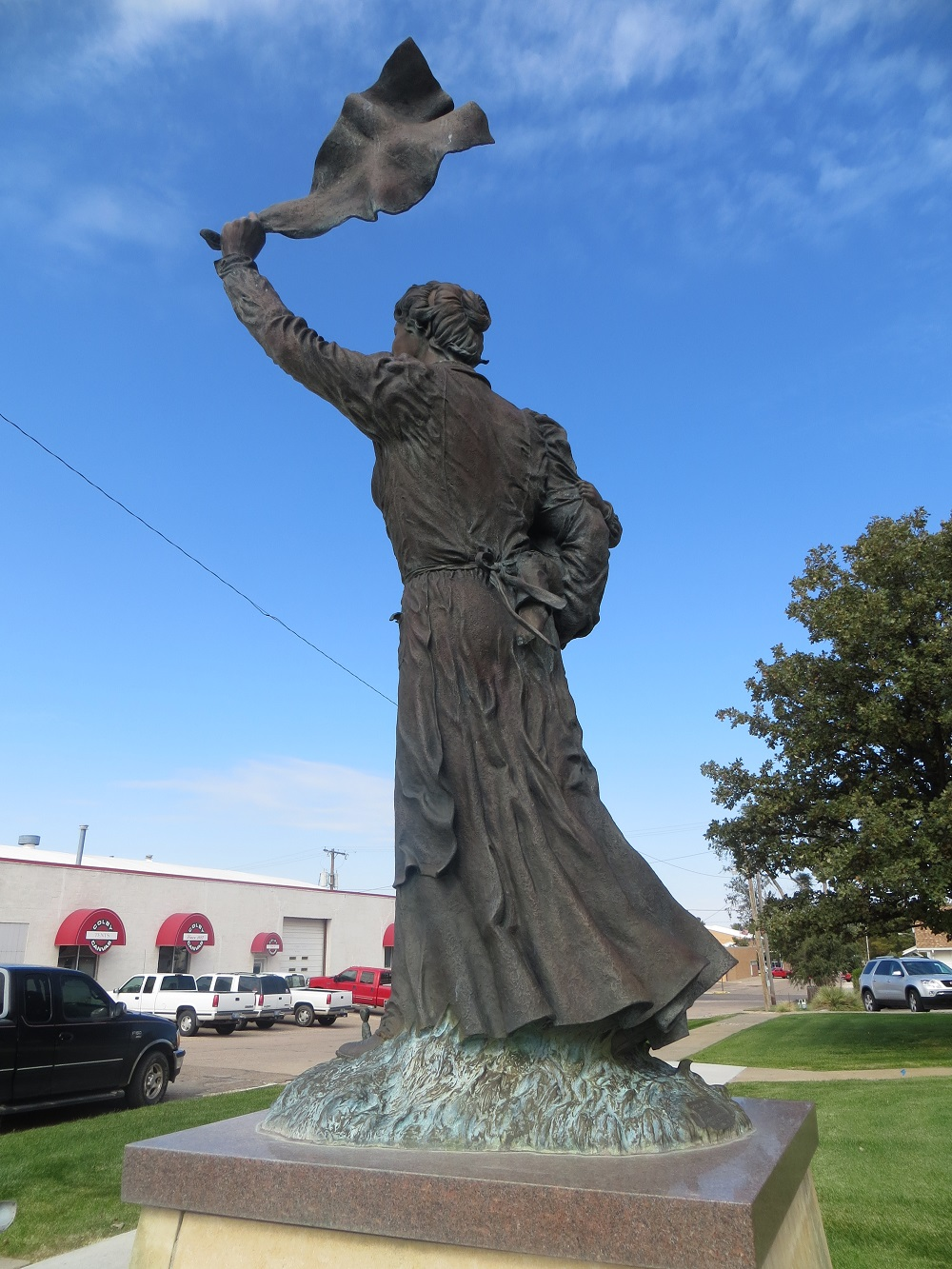Spirit of the Prairie statue (back side)