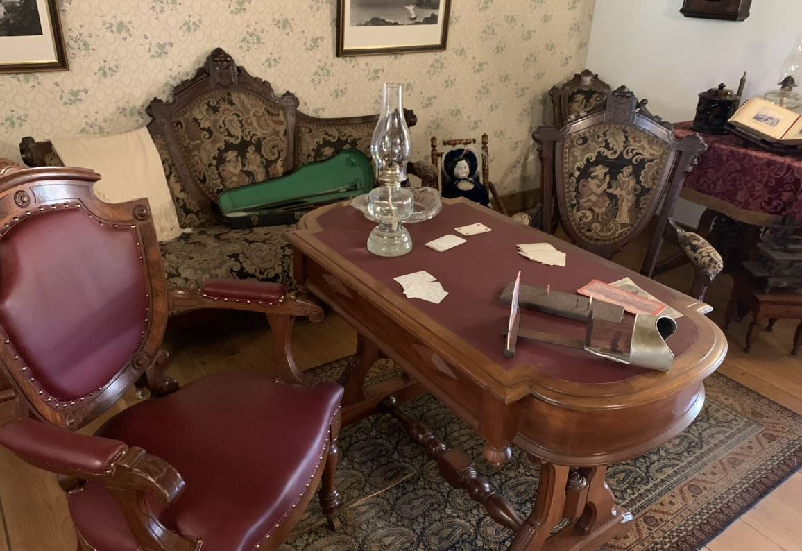 Brown, Table, Picture frame, Furniture