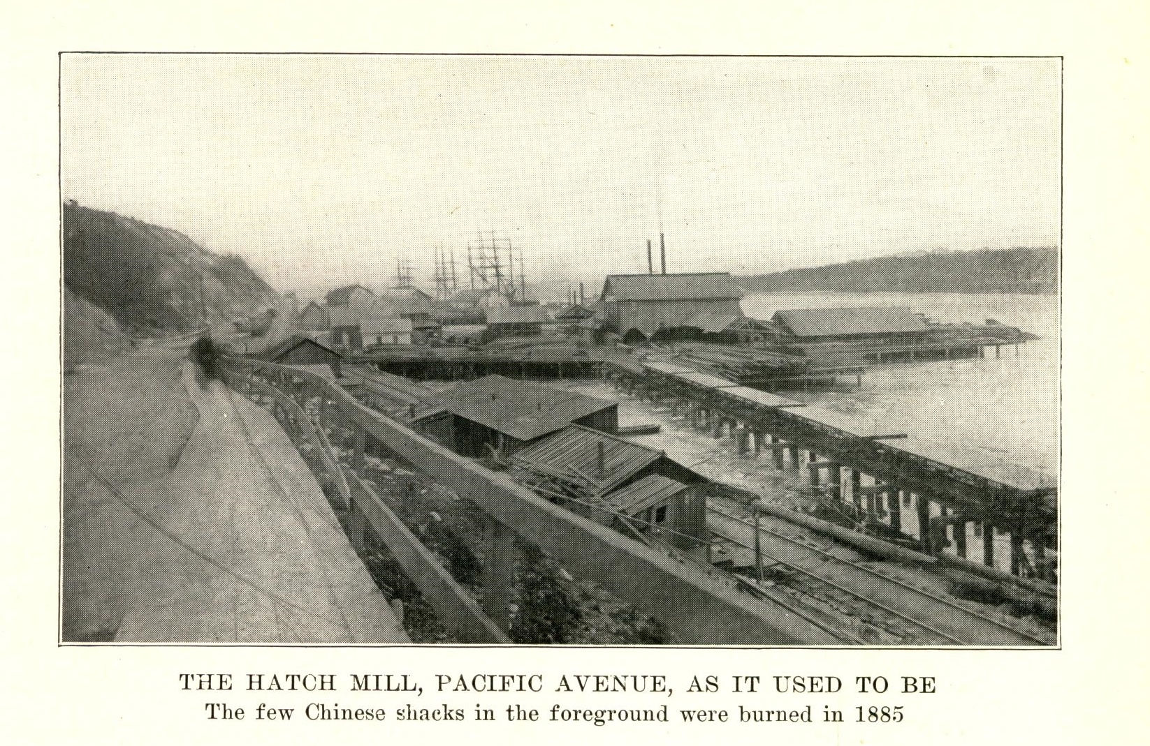 Half-Moon Bay, location of Tacoma's lower Chinatown (1884)