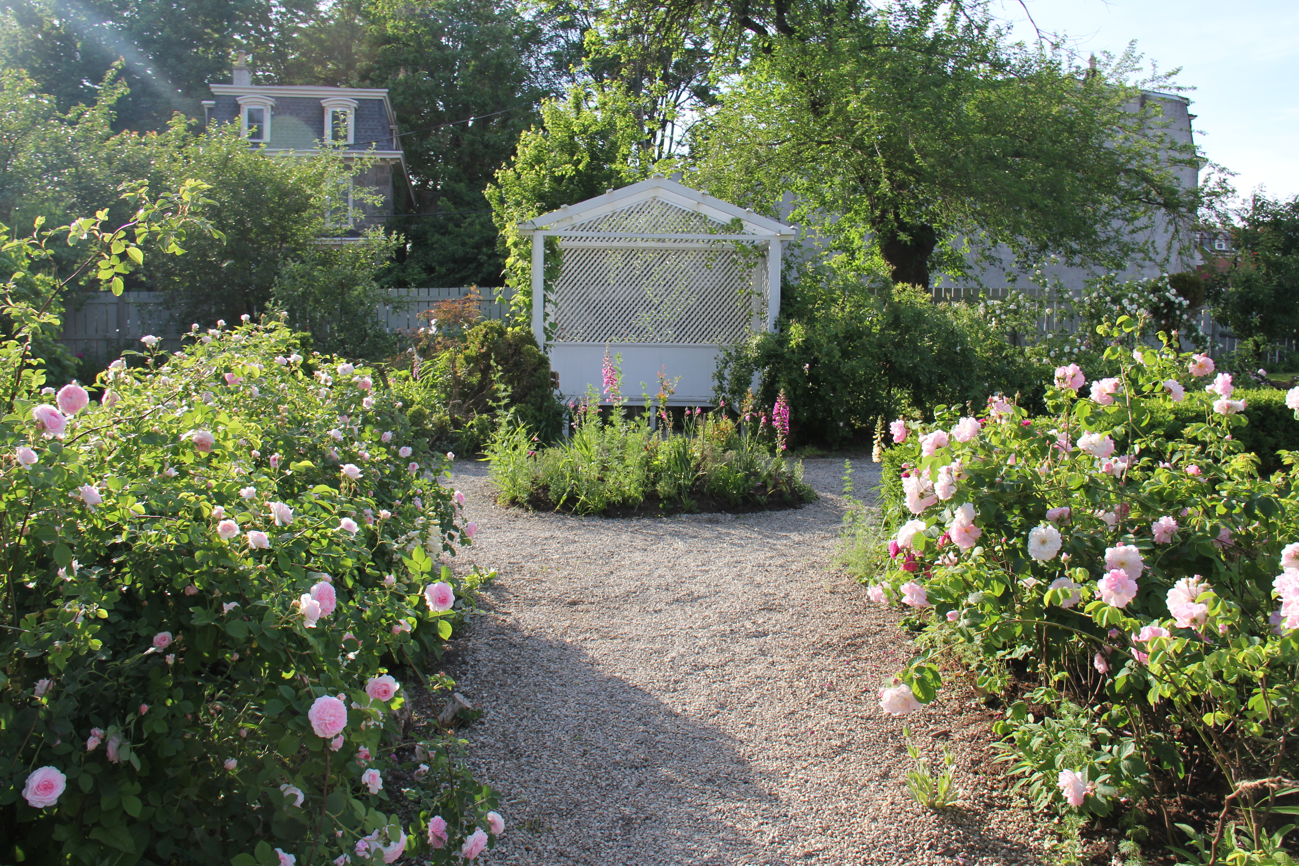 The summer house in the historic rose garden