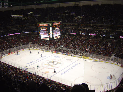 The Honda Center Ice Surface